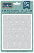 Rocketship Embossing Folder - Pinstripes - Echo Park