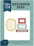 Labels #8 Die Set - Pinstripes - Echo Park