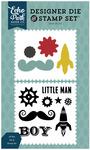 All Boy Die & Stamp Set - Pinstripes - Echo Park