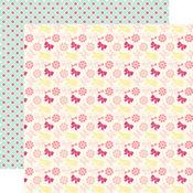 Rows of Bows  Paper - Petticoats - Echo Park