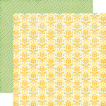 Sunny Damask Paper - Petticoats - Echo Park