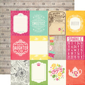 3X4 Journaling Cards Paper - Petticoats - Echo Park