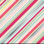 Diagonal Stripe Foil 12 x 12 Sheet - Petticoats - Echo Park