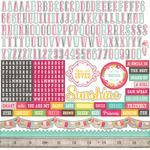 Petticoats 12 x 12 Alpha Sticker Sheet - Petticoats - Echo Park