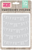 Curved Pennant Embossing Folder - Petticoats - Echo Park