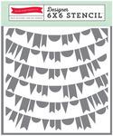Banners #2 Stencil - Petticoats - Echo Park