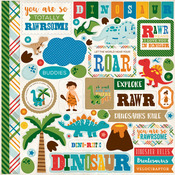 Dino Friends Element Sticker Sheet - Echo Park