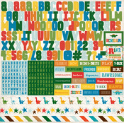 Dino Friends Alphabet Sticker Sheet - Echo Park
