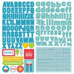 Party Boy Alpha Sticker Sheet - Photoplay