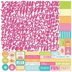Party Girl Alpha Sticker Sheet - Photoplay