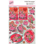 Champagne & Roses - Anita's A4 Foiled Decoupage Sheet