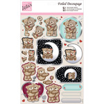 Knitted Bears - Anita's A4 Foiled Decoupage Sheet