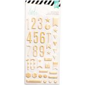 Puffy Numbers Gold - Heidi Swapp Foam Stickers