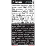 "Word Strip - Documented Faith Clear Stickers 6""X12"""