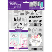 Geometric Neon - Creativity Essentials A5 Clear Stamps