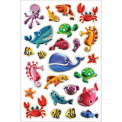 "Sea Creatures - Foil Fun Stickers 5.5""X8.25"" Sheet"