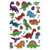 "Dino World - Laser Embossed Stickers 5.5""X8.25"" Sheet"