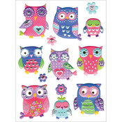 "Owl Splendor - Elegance Stickers 5""X6"" Sheet"