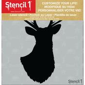 """Antlered Deer Silhouette - Stencil1 6""""X6"""" Stencil"""