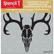 """Deer Skull - Stencil1 6""""X6"""" Stencil"""