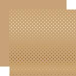 Gold Foil Tan Paper - Dots & Stripes Foiled - Echo Park