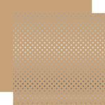 Silver Foil Tan Paper - Dots & Stripes Foiled - Echo Park