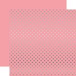 Silver Foil Pink Paper - Dots & Stripes Foiled - Echo Park