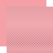 Silver Foil Pink Paper - Dots & Stripes Foiled - Echo Park
