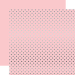 Silver Foil Light Pink Paper - Dots & Stripes Foiled - Echo Park