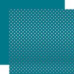 Silver Foil Blue Paper - Dots & Stripes Foiled - Echo Park