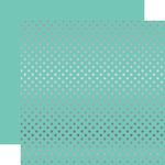 Silver Foil Mint Paper - Dots & Stripes Foiled - Echo Park