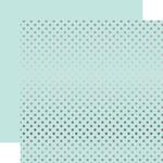 Silver Foil Light Mint Paper - Dots & Stripes Foiled - Echo Park