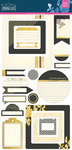 Urban Luxe Journal Stickers - Basic Grey