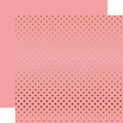 Copper Foil Pink Paper - Dots & Stripes Foiled - Echo Park