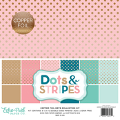 Copper Foil Collection Kit - Dots & Stripes Foiled - Echo Park