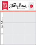 """My Story Book Album Pocket Pages 6""""X8"""" 10/Pkg, 2""""X2"""" Openings - Echo Park"""