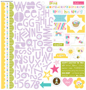 "Treasures & Text - Sweet Sweet Spring Stickers 12""X12"""