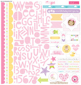 Sweet Baby Girl Treasures & Text Sticker Sheet - Bella Blvd