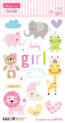 Sweet Baby Girl Chipboard Icons - Bella Blvd