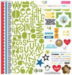 The Zoo Crew Treasures & Text Sticker Sheet - Bella Blvd