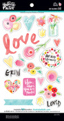 - Illustrated Faith She Blooms Chipboard Icons