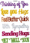 Thinking Of You Sentiments Stick Ems - Queen & Co