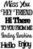 Friends Sentiments Stick Ems - Queen & Co