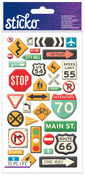 Road Signs Dimensional Stickers - Sticko