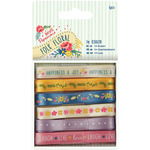 Papermania Folk Floral Ribbon 1m 6/Pkg