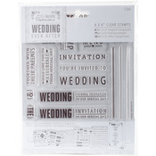 """Sentiments - Papermania Ever After Wedding Clear Stamps 6""""X6"""""""