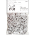 Silver Satin - Papermania Ever After Wedding Ribbon Bows 27mm 100/Pkg