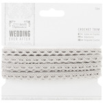 Silver 9mm - Papermania Ever After Wedding Crochet Trim 10m