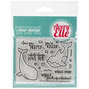 """Whale Hello - Avery Elle Clear Stamp Set 4""""X3"""""""