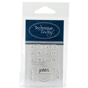 """Calendar - Years - Technique Tuesday Clear Stamps 2""""X2.5"""""""